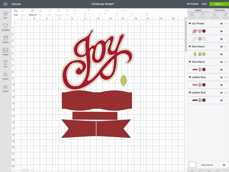 Design Space Cut File for Christmas Wreath
