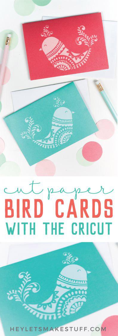 Christmas bird cards you can make
