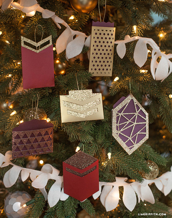 Paper ornament gift card holders