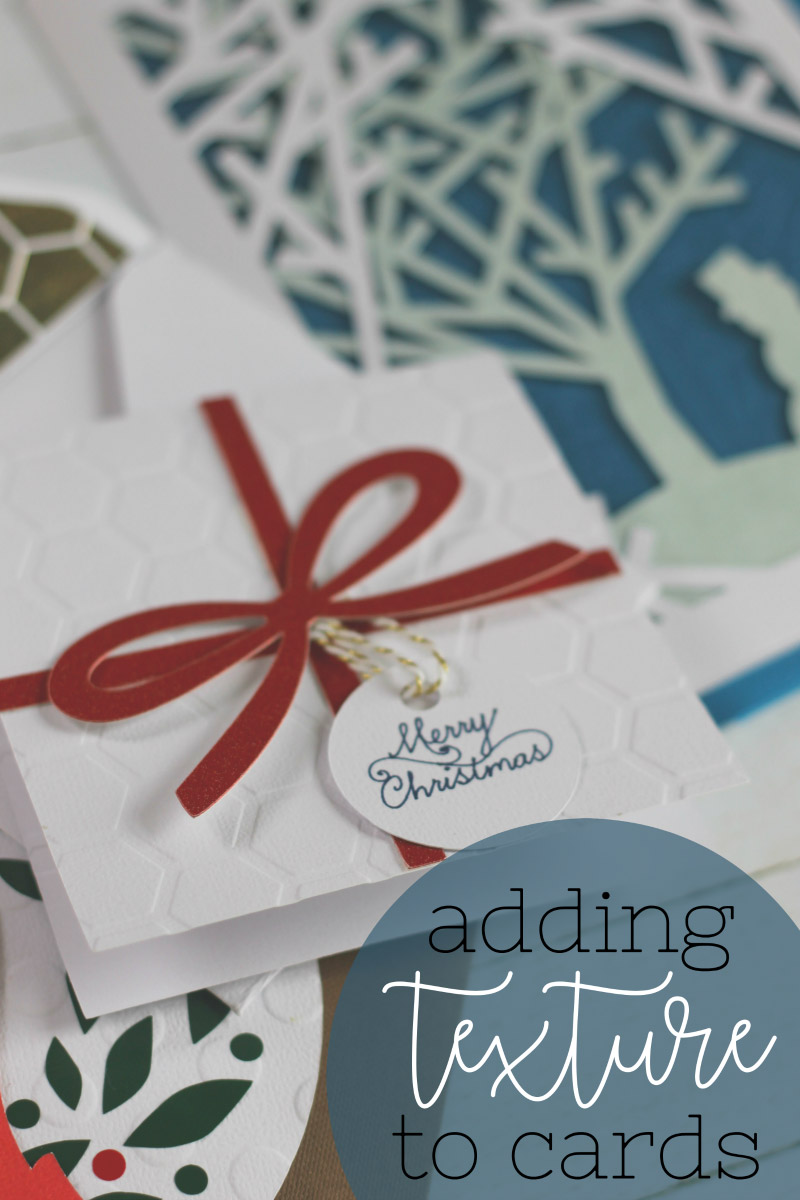 Add texture to your cards