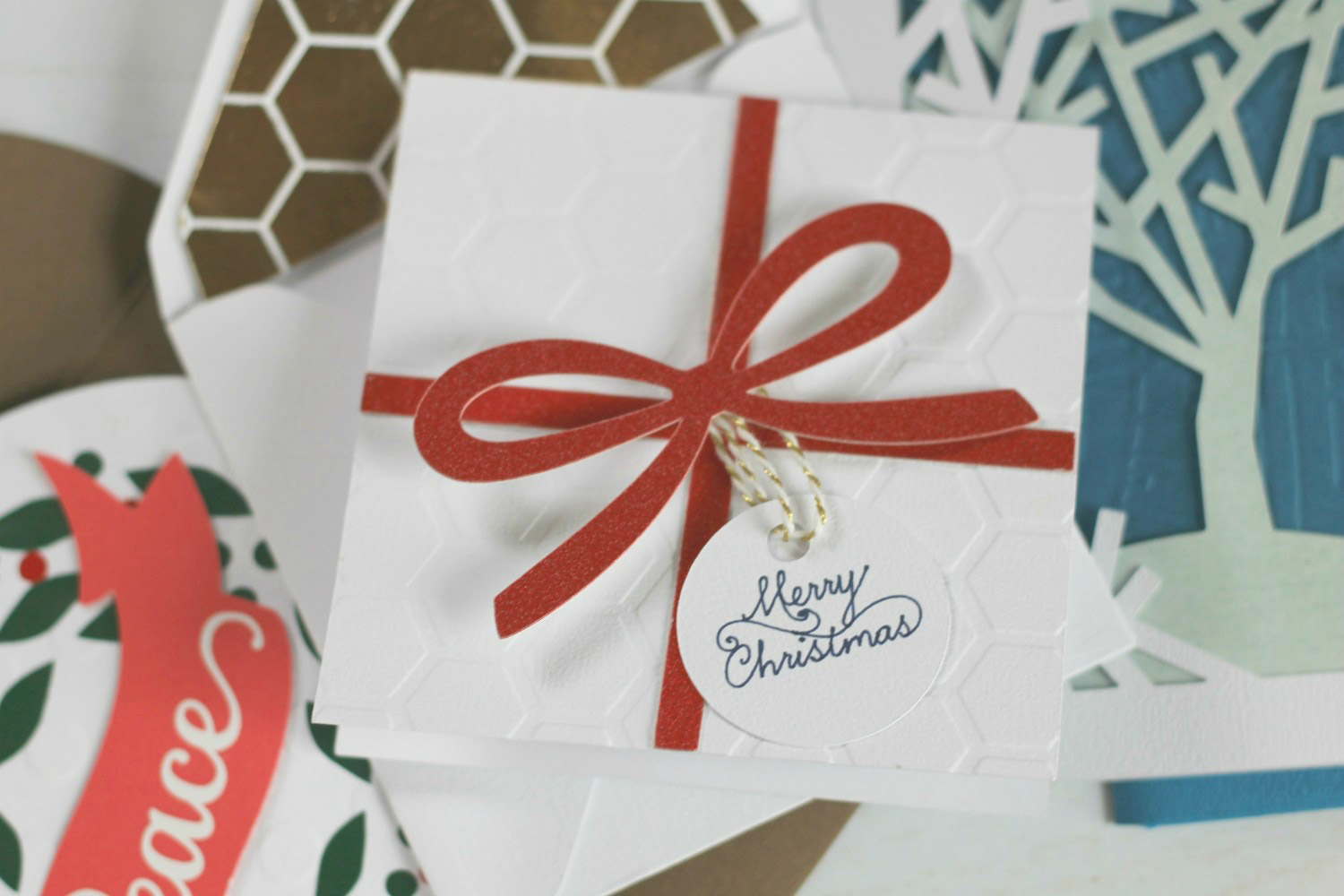 Finished holiday cards