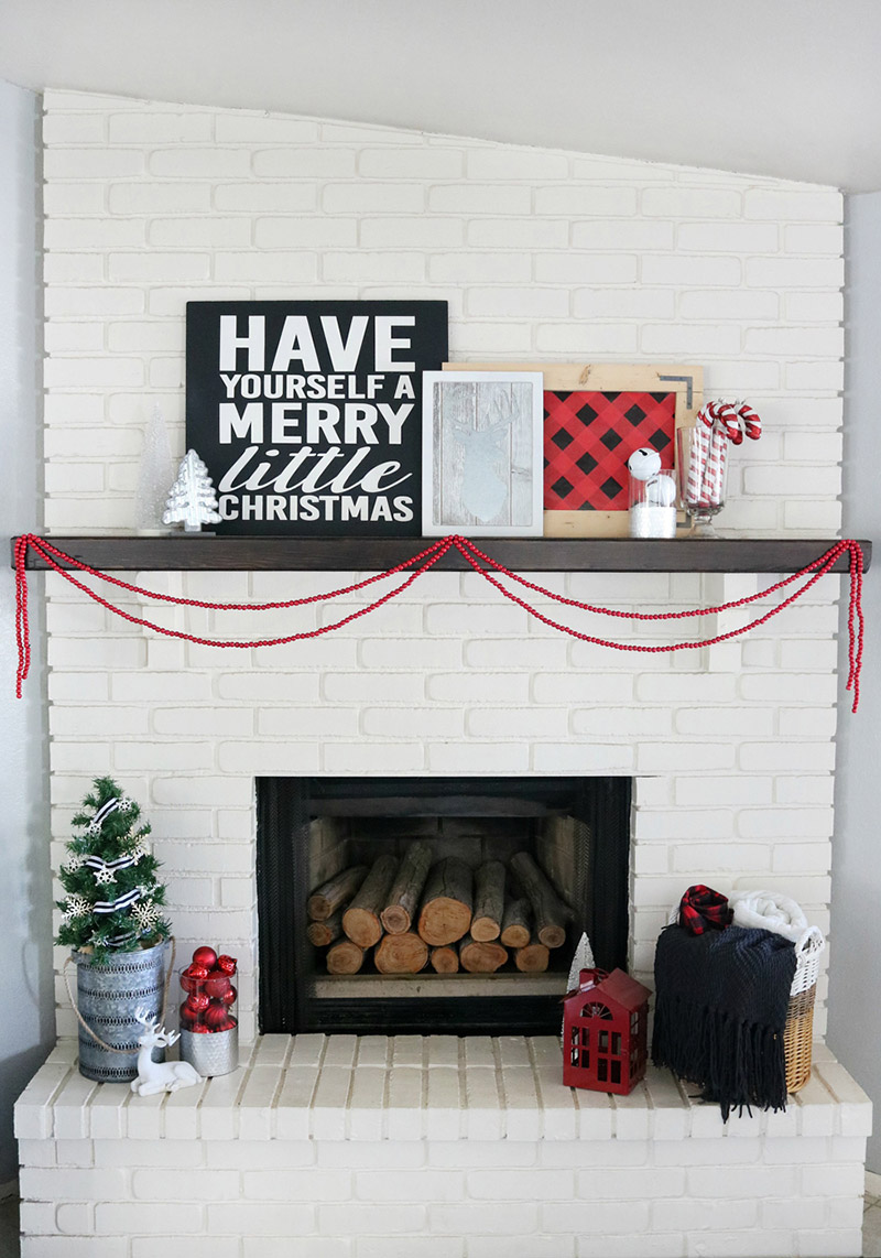 Buffalo Check Holiday Mantel by Crafted Sparrow