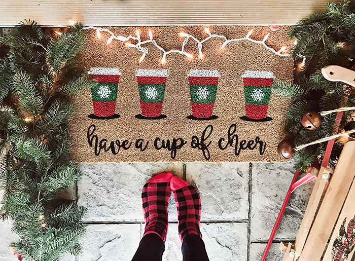 Cup Of Cheer Doormat from Kayla Makes