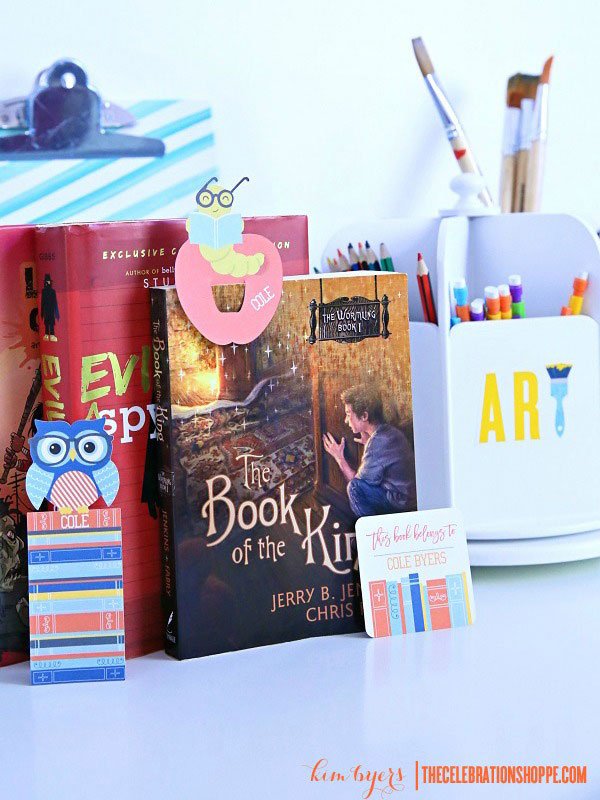 Use these cute printed bookmarks to keep your place