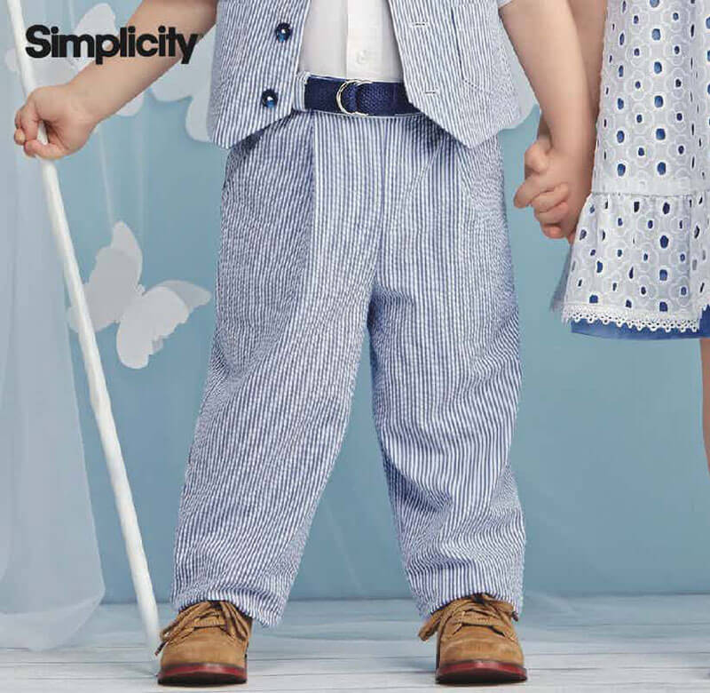 Toddler pants and belt pattern