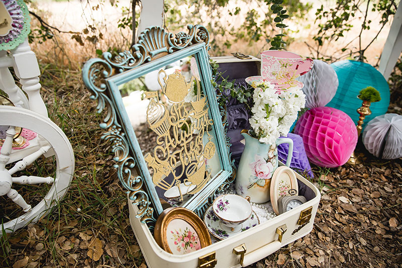 Dress up your mirror with this tea party decal