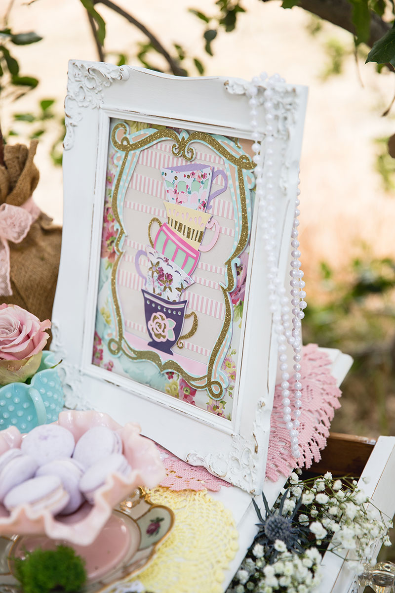 This framed art is perfect for your tea party