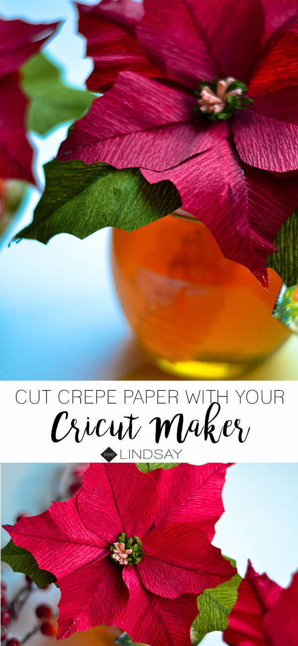 The Cricut Maker can cut both crepe paper and leather