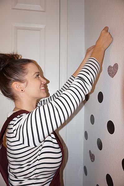 Heidi Applying Vinyl