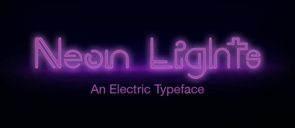 Neon Lights Font Image