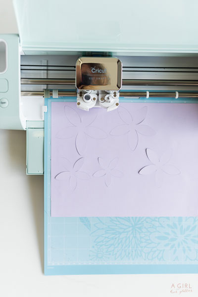 Have your Cricut cut out the flowers