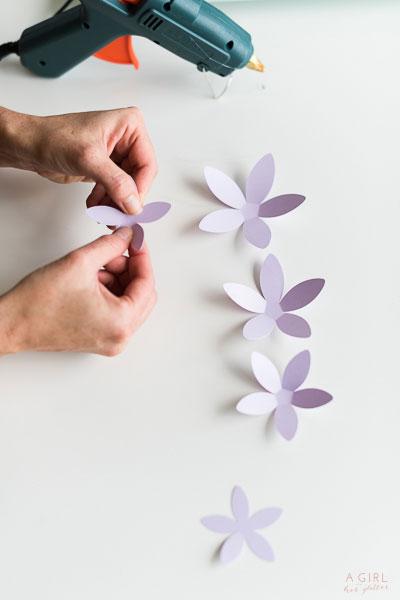 Bend the petals