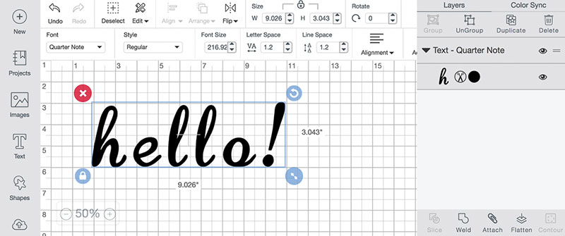 Working With Fonts In Cricut Design Space Cricut