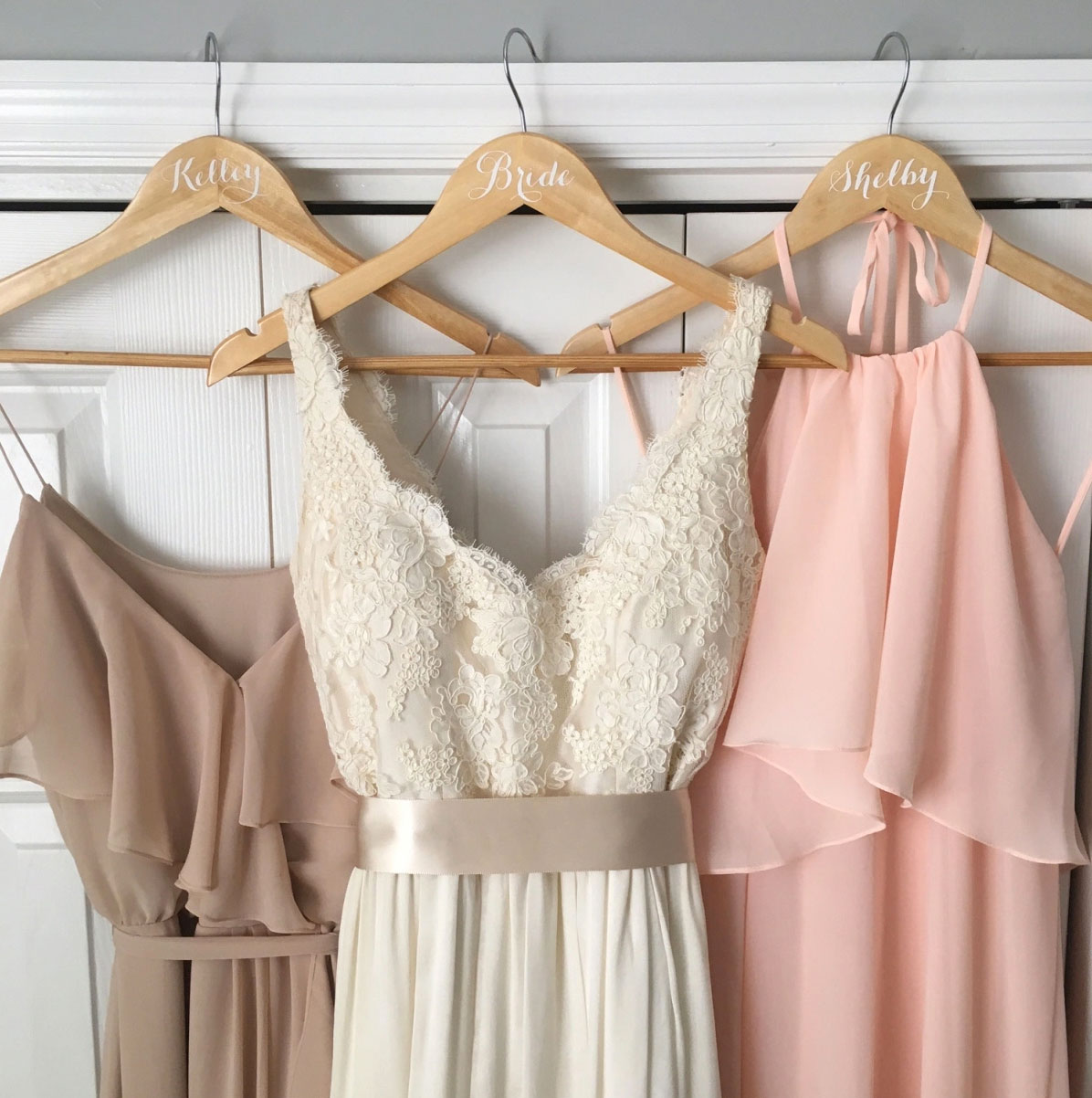 Personalize hangers for your bridal party