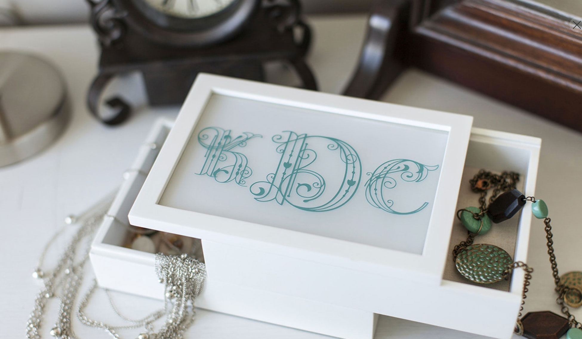 Put a monogram on a jewelry box for your bridesmaids
