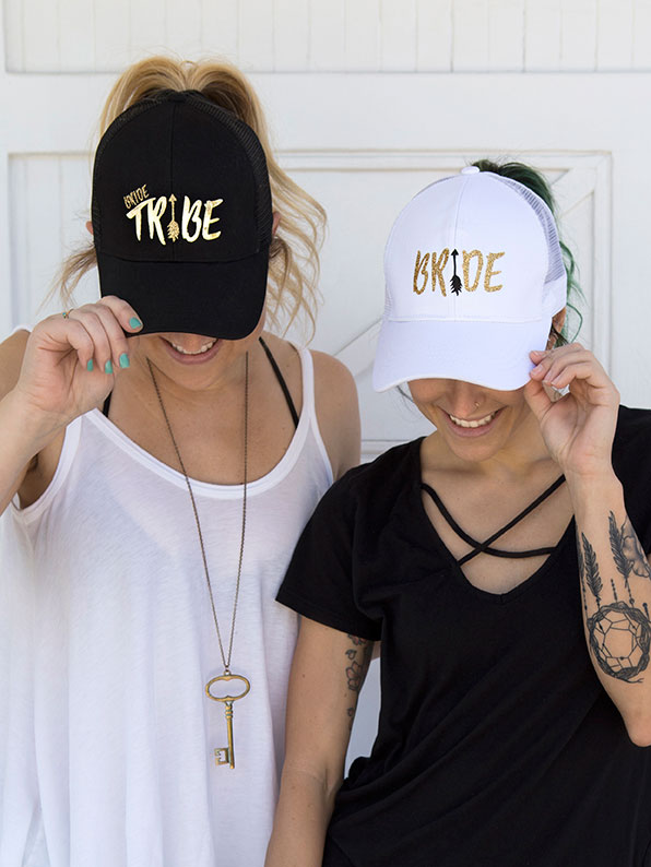 Be a part of the bride tribe with these cute hats