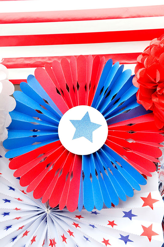 Be patriotic with a red, white and blue party