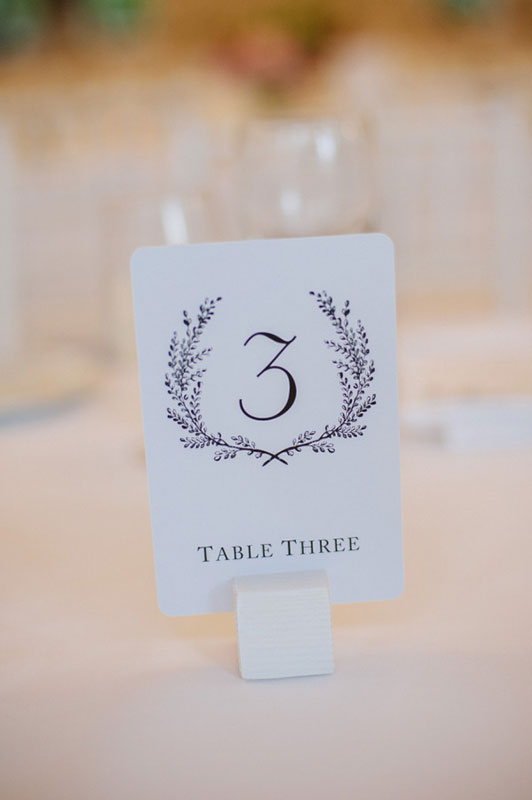 Drawn table number
