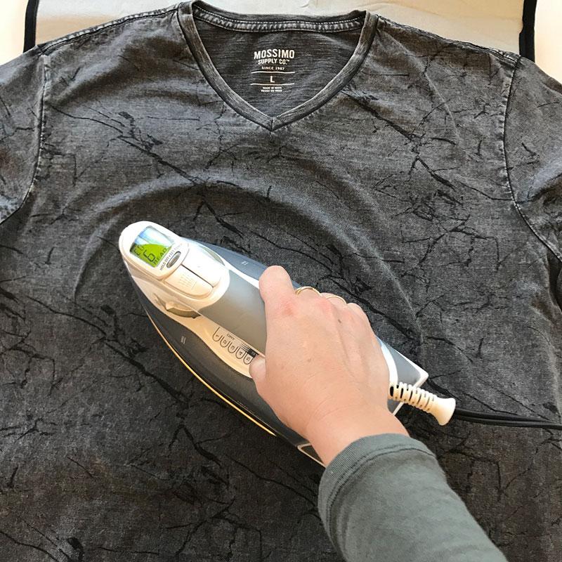 Iron on shirt