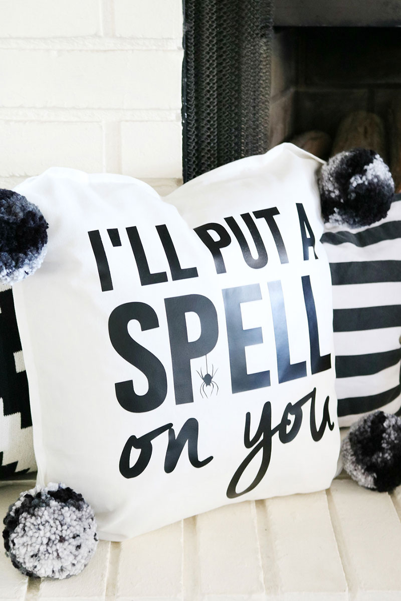 Decorate for Halloween with this fun pillow