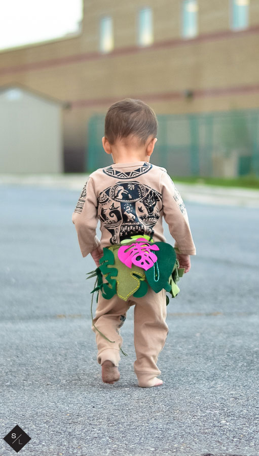 Cute Polynesian Demigod costume for kids