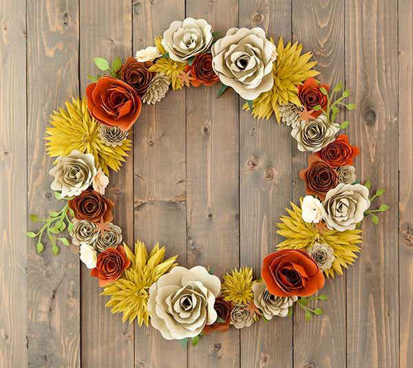 Adorn your front door with this cute fall wreath