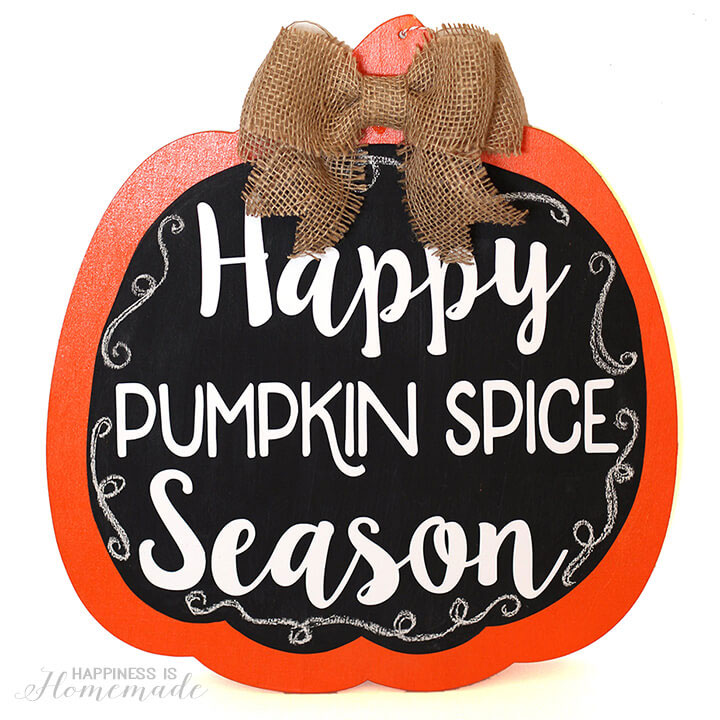Announce your love for pumpkin spice with this fun sign