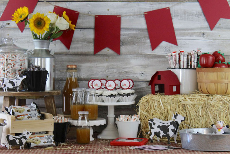 Celebrate a successful harvest season with this sweet farm party