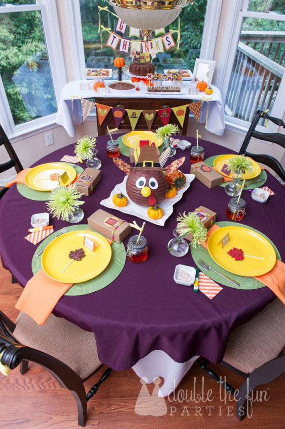 Set a festive scene with this Thanksgiving Table