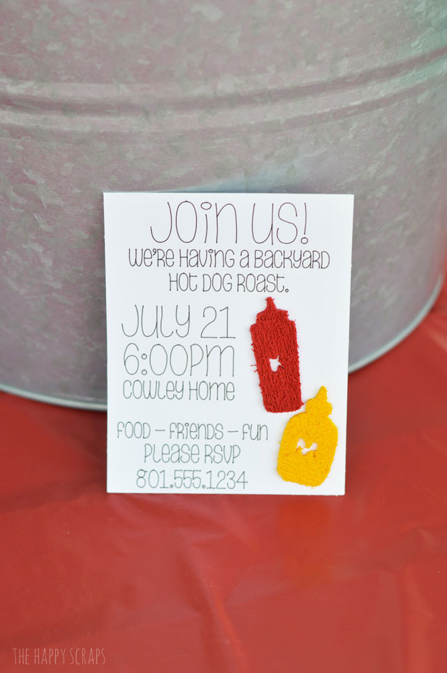 Make these cute invites for your next hot dog roast