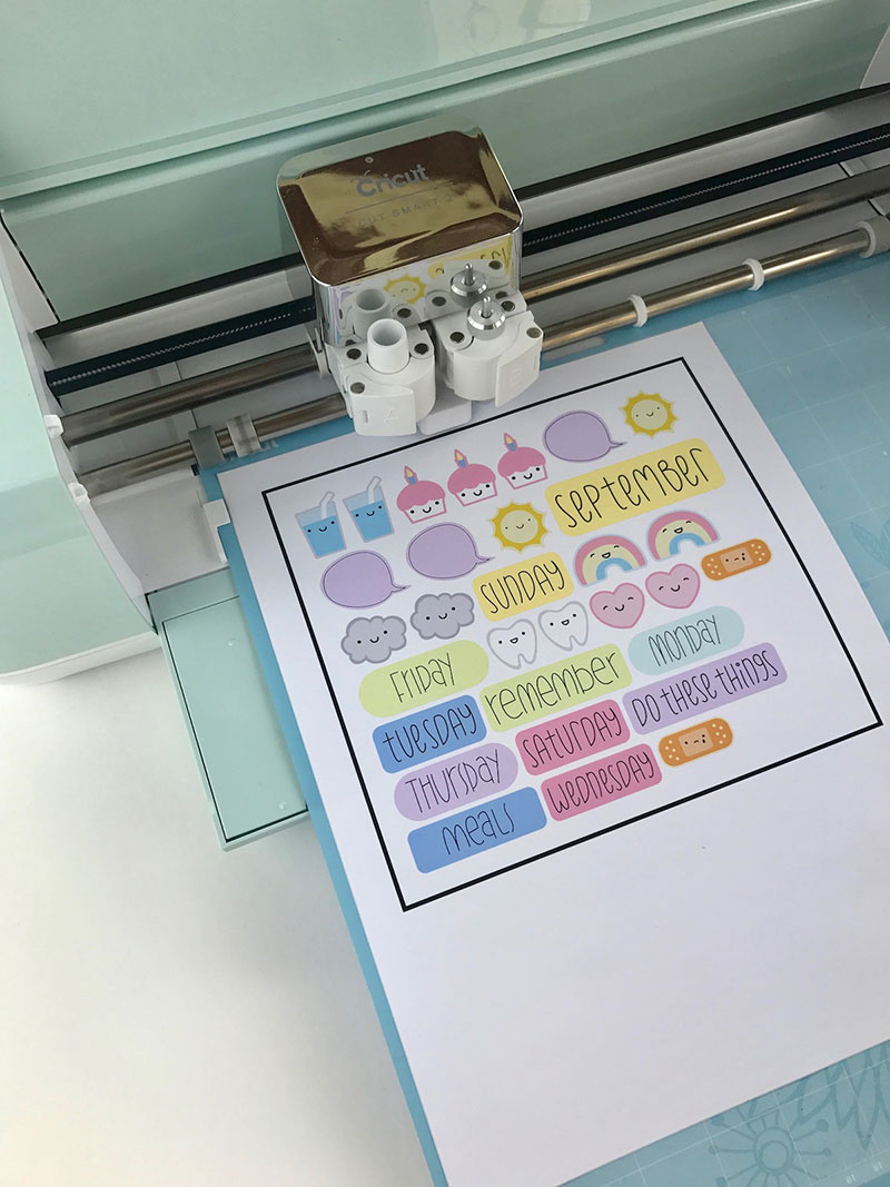 Load up your printed vinyl into the machine