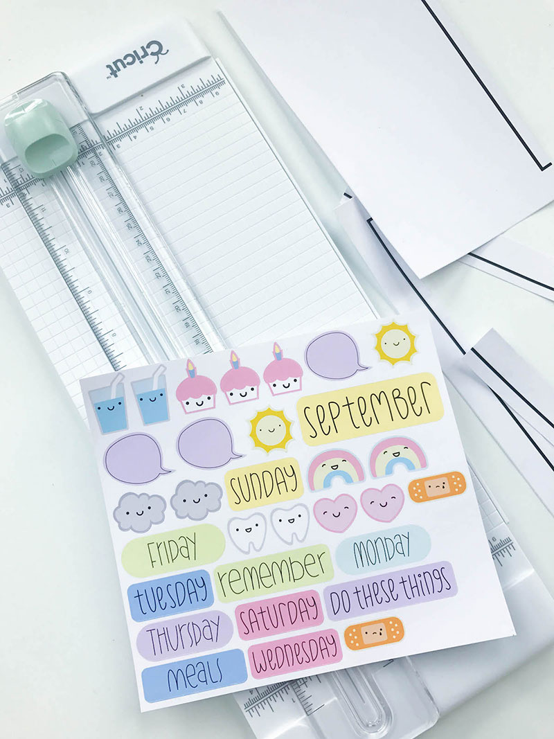 Trim your sticker sheets