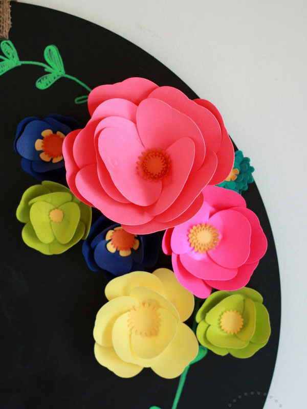 Flowers made using welded ovals for petals