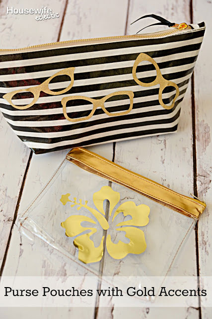 Decorate a purse pouch with gold foil!