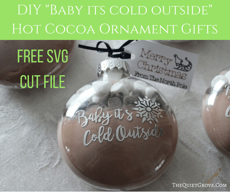 Give hot cocoa ornaments as gifts this year