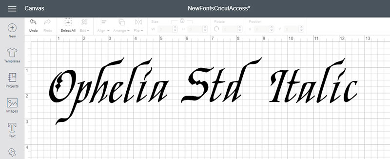 Ophelia Std Italic Font