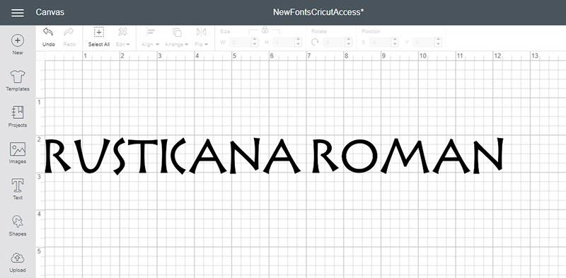Rusticana Roman Font