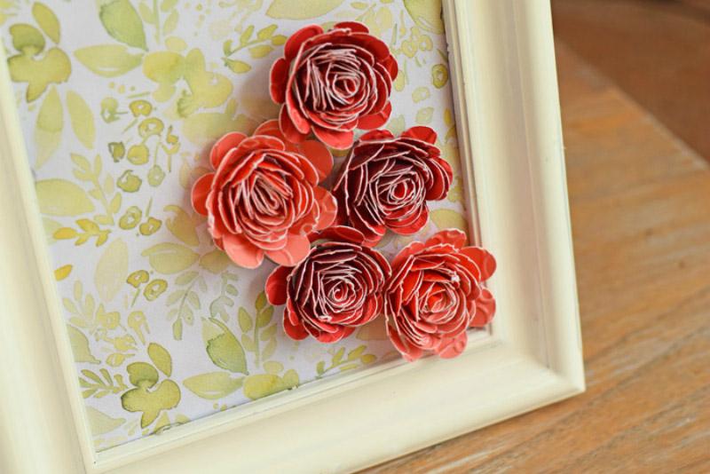 Rolled 3D Flower Art