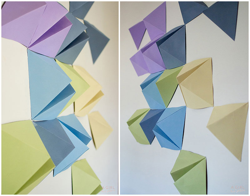 Make your geometric backdrop fun
