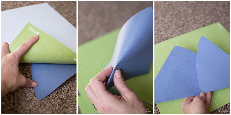 Take your cardstock off the mat