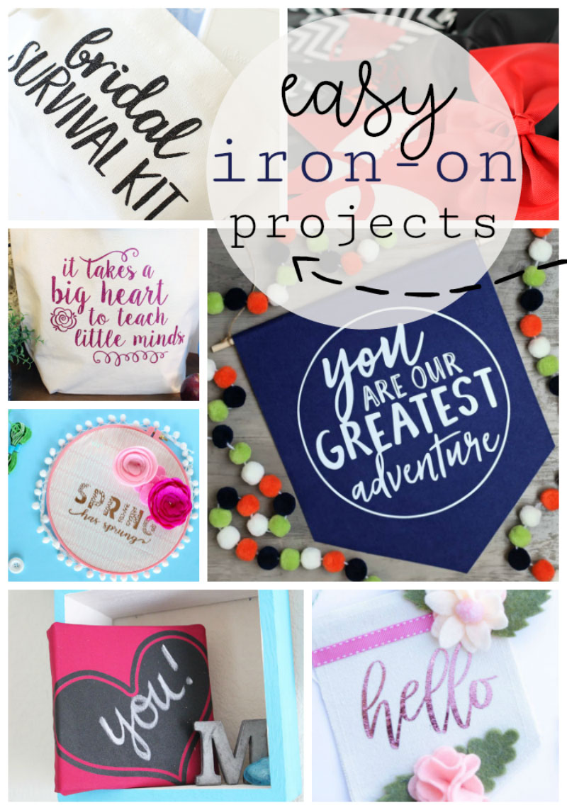 Enjoy these other easy iron-on projects from some of my favorite Cricut bloggers.