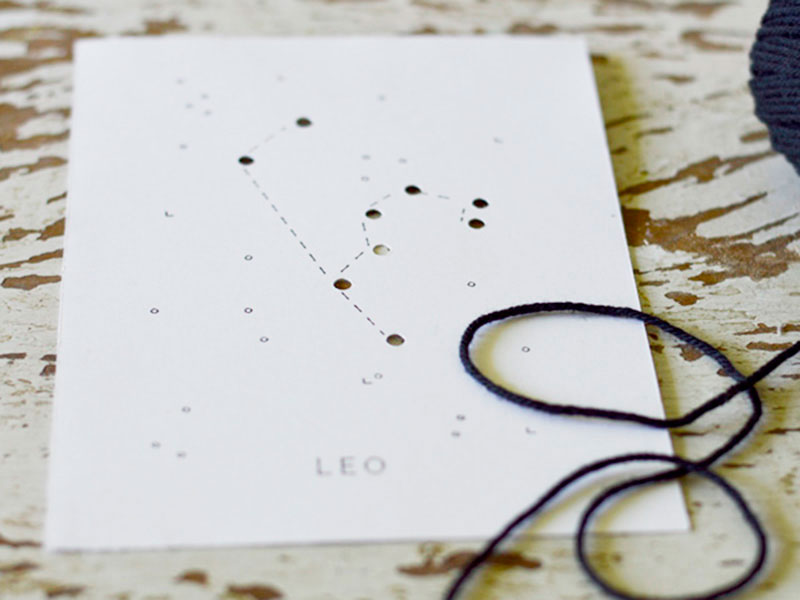 Make this Constellation Project Leo with poster board