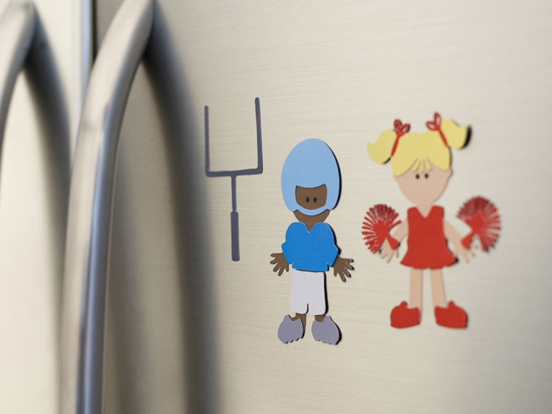Make these magnet paper dolls with printable magnet sheets