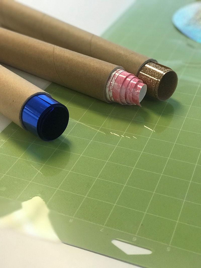 Store your vinyl inside the rolls.