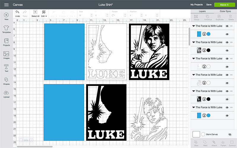 Create Your Star Wars project in Design Space