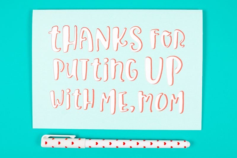 Layer your Mother's Day card