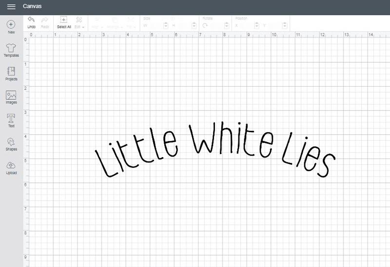 Little White Lies font