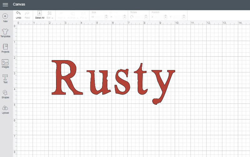 Rusty font