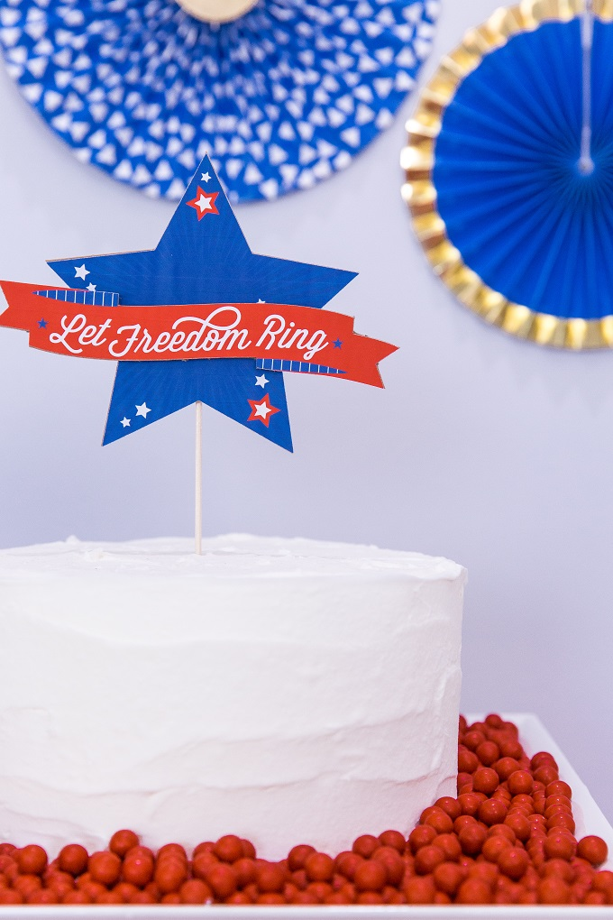 July 4th Cake Topper