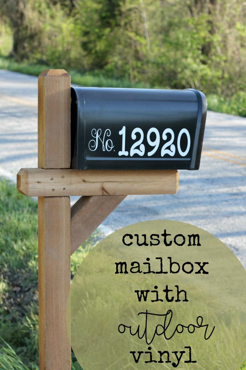 DIY Customized Mailbox using Cricut Outdoor Vinyl